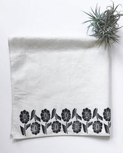 Load image into Gallery viewer, Up and Down Floral Design Handprinted Bandana