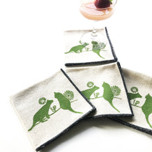 Load image into Gallery viewer, Cats and Dandelions Cocktail Napkin Set