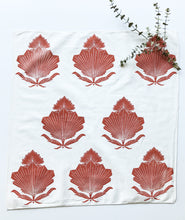 Load image into Gallery viewer, Fan Floral Design Handprinted Bandana