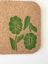 Load image into Gallery viewer, Up and Down Floral Cork Coaster Set