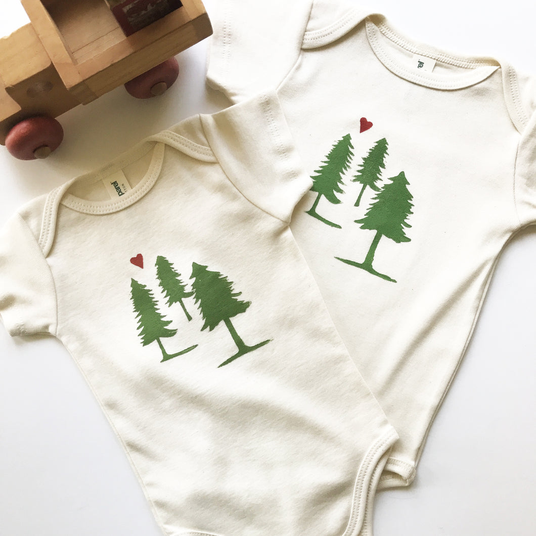 Evergreen Tree Organic Cotton One Piece