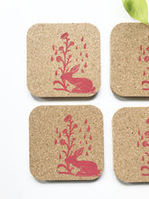 Load image into Gallery viewer, Rabbit Cork Coaster Set