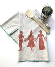 Load image into Gallery viewer, Paperdolls Block Printed Tea Towel