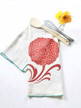 Load image into Gallery viewer, Mum Block Printed Tea Towel