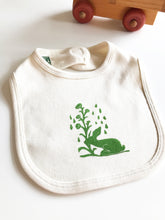 Load image into Gallery viewer, Rabbit and Flowers Organic Cotton One Piece and Bib