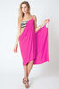 Convertible Beach Wrap Dress in Fuchsia