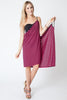 Convertible Beach Wrap Dress in Hot Pink Stripe