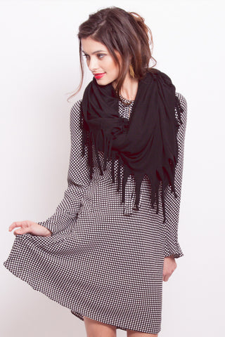 Blanket Scarf in Black