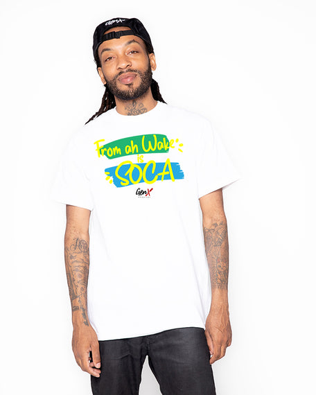 White From ah wake ''SOCA'' Tees <br><h2><strong>30 Entries</strong></h2>