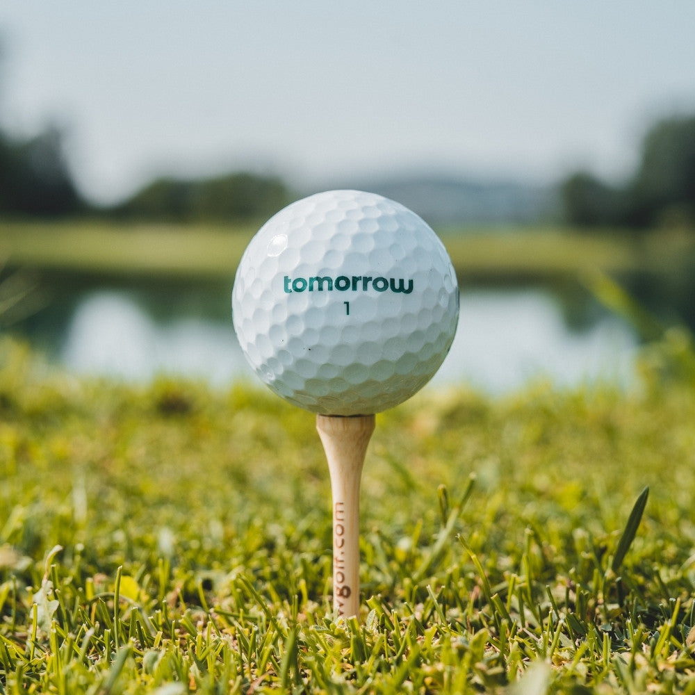 tomorrow golf ball recycled core