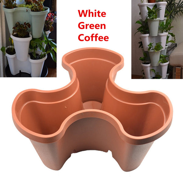 Stackable Triangle Garden Planter Herb Flower Pot Seedling Grow Basket Container Nursery Pots Garden Patio Planting Supplies