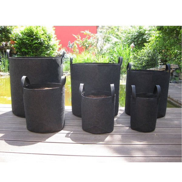 5Pcs/Set Round Fabric Grow Bags Nursery Pots Flower Plant Pouch Root Container Aeration Container Planter Garden Tools 5 SIZES