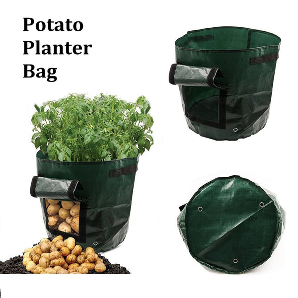 Waterproof Garden Potato Grow Bag Vegetables Planter Bag Access Flap Harvesting Flower Plants Nursery Pots Garden Accessories