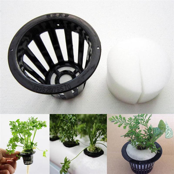 10Pcs Plastic Mesh Pot Hydroponic Foam Aeroponic Plant Grow Net Basket Garden Plant Nursery Pot Box Mini Basket Garden Supplies