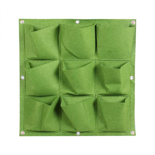 Outdoor Indoor Wall Hanging Planter Vertical Felt Garden Plant Grow Bag Gardening Planting Container Bags 9 Pocket