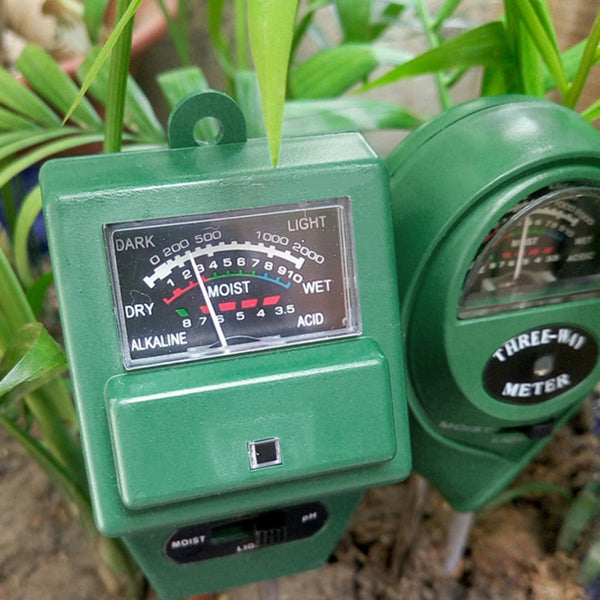 3 in Soil Water Moisture 1 PH Tester Soil Detector Water Moisture Light Test Meter Sensor for Garden Plant Flower