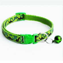 Load image into Gallery viewer, Colurful Camo Collar with bell