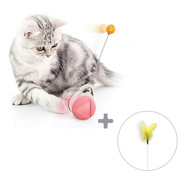 Interactive Self-Standing Cat Toy