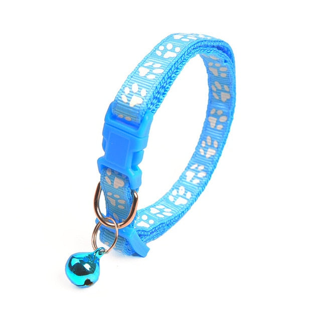 Paw Reflective Cat Collar