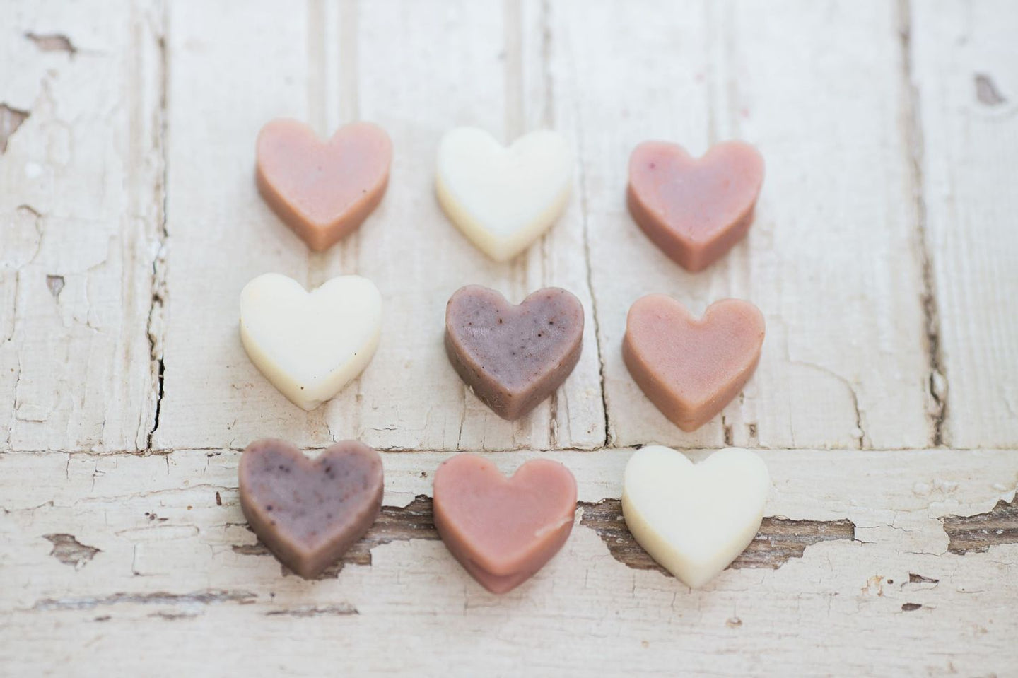 Bulk Mini Heart Soaps - All Natural and Handmade