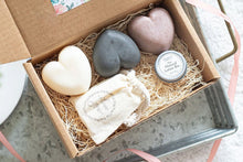 Load image into Gallery viewer, Heart Soap Bath Gift Set - All Natural and Handmade