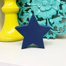 Load image into Gallery viewer, blue wood star