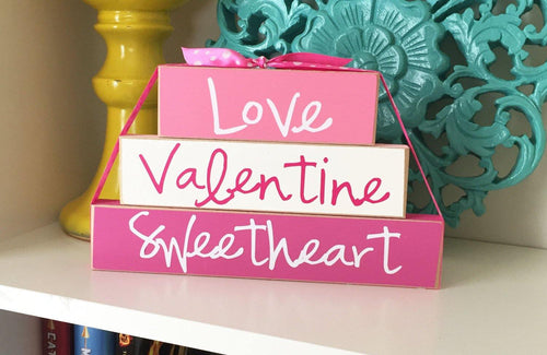 Valentines Decor, Valentines Sign, Valentines Day Decor, Shelf Decor