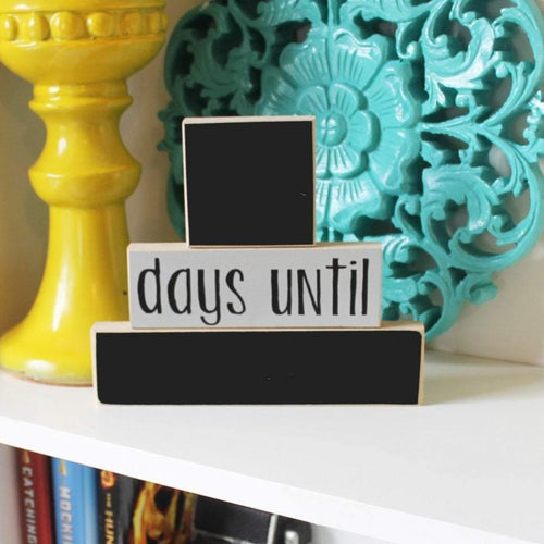 Days Until Stackers- Countdown Blocks, Countdown Chalkboard, Chalkboard Countdown, Days Til Blocks, Chalkboard Blocks, Days until chalkboard