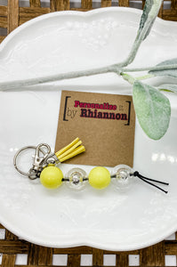 Yellow & clear keychain