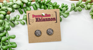 12mm snake skin stud earrings