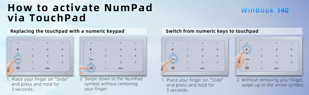 How to activate NumPad via TouchPad