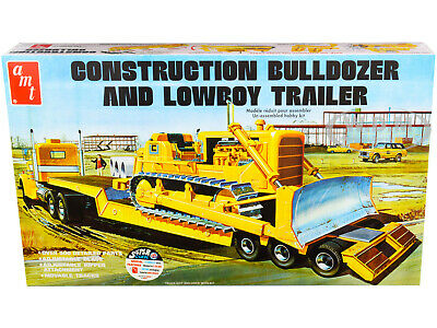 AMT Construction Bulldozer And Lowboy Trailer