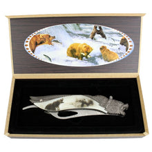 "Load image into Gallery viewer, TheBoneEdge 8.5"" Bear Pattern Handle Folding Knife With Gift Box"