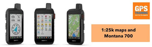 Why does the 1:25k Ordnance Survey map card and the Garmin Montana 700i and 750i?