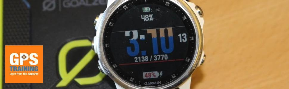 Charging a Garmin GPS watch from a power pack