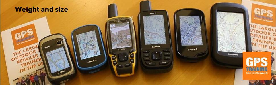 Garmin GPS units - Weight and size of outdoor GPS units