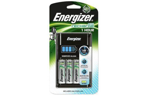 Energizer Battery Charger 1 Hour inc 4x AA 2300mAh rechargeable batteries