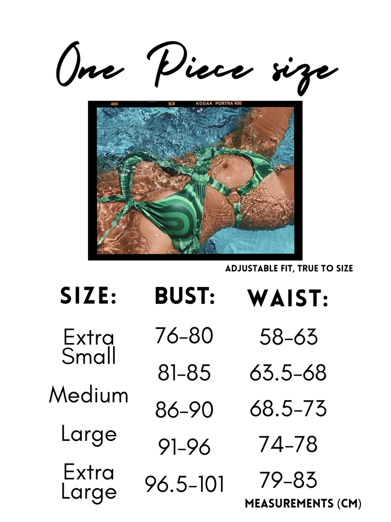 groovy one piece tropical society size chart