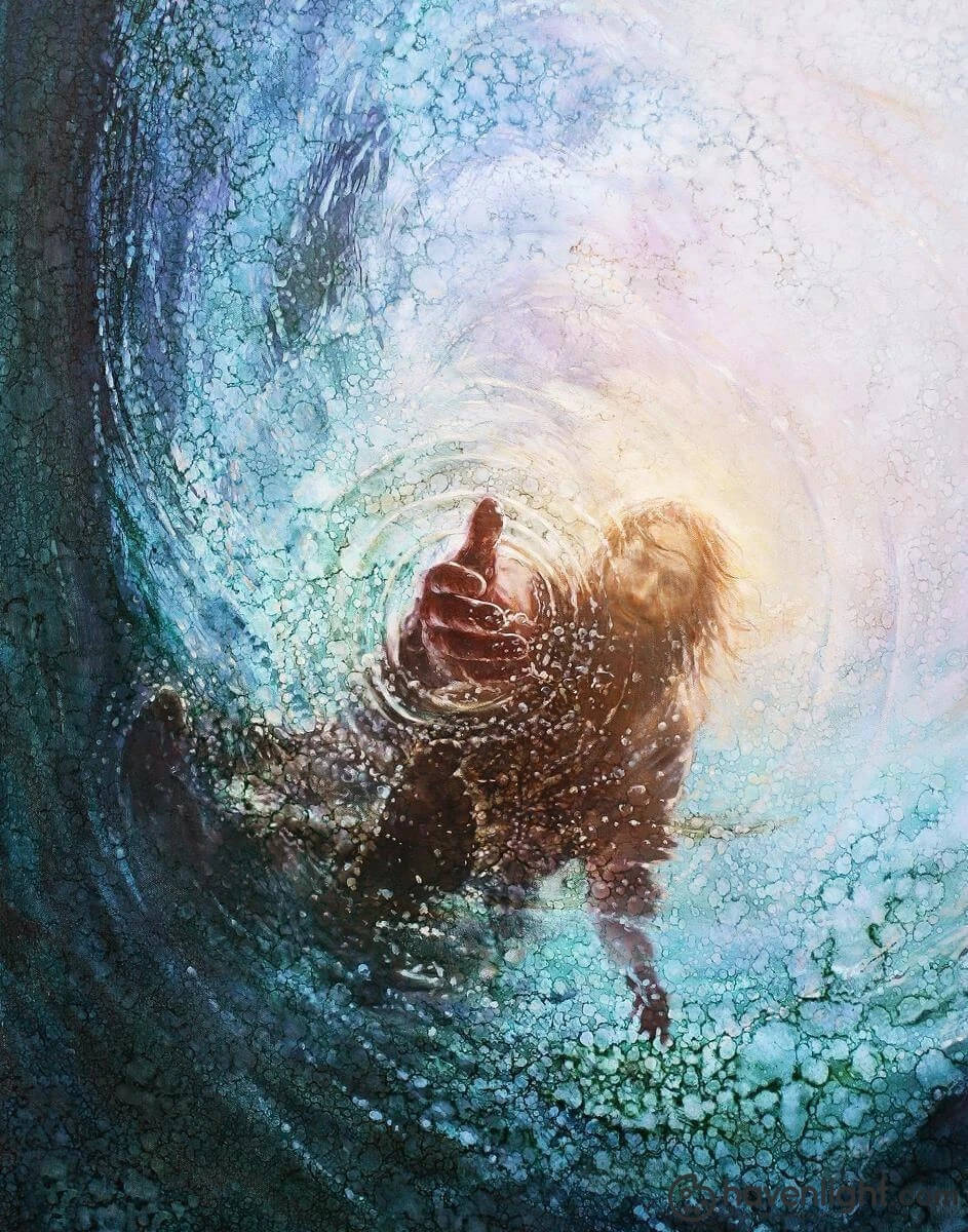 Jesus Saves Peter From Drowning