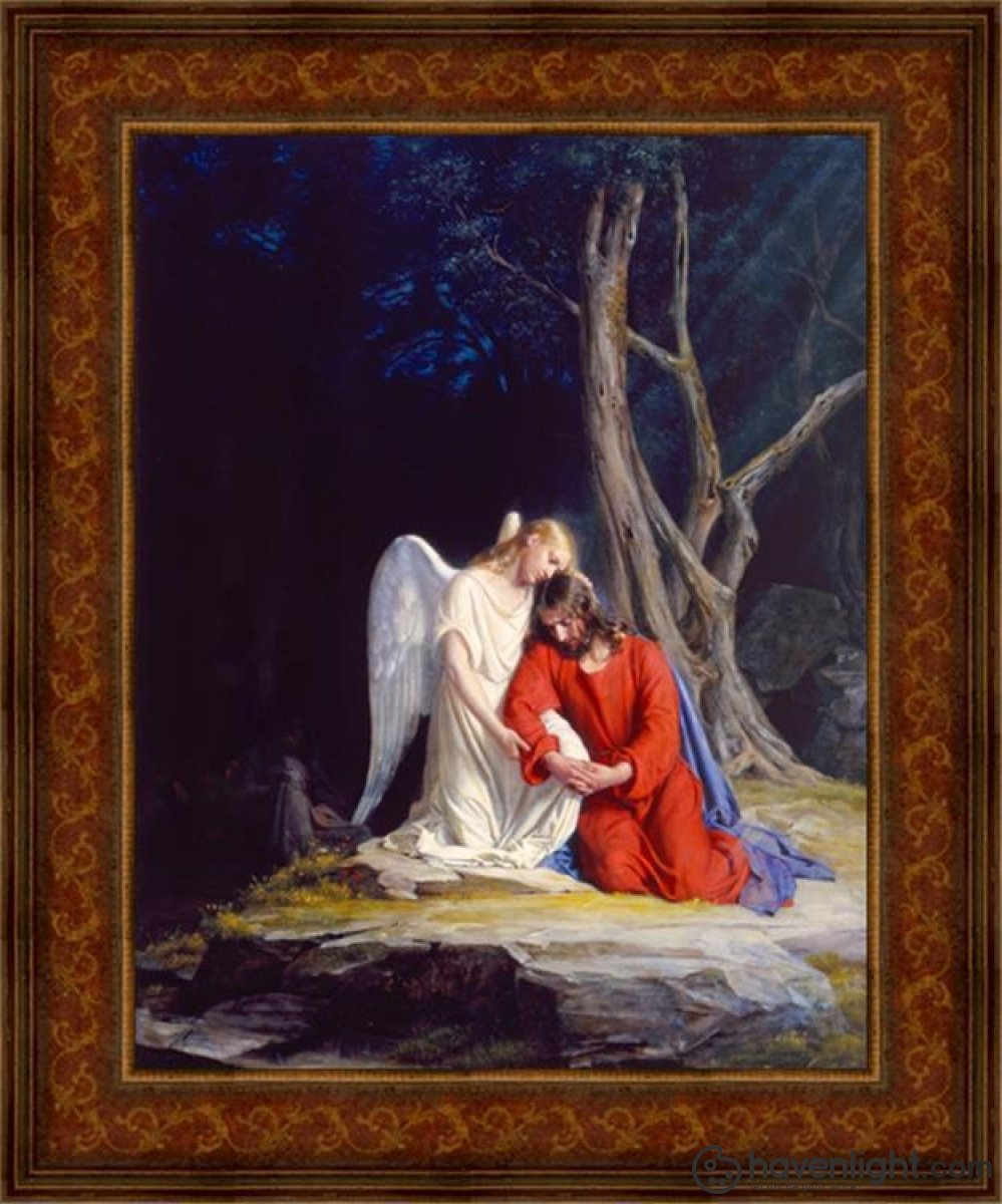 Gethsemane Open Edition Canvas / 16 1/2 X 21 Frame C Art