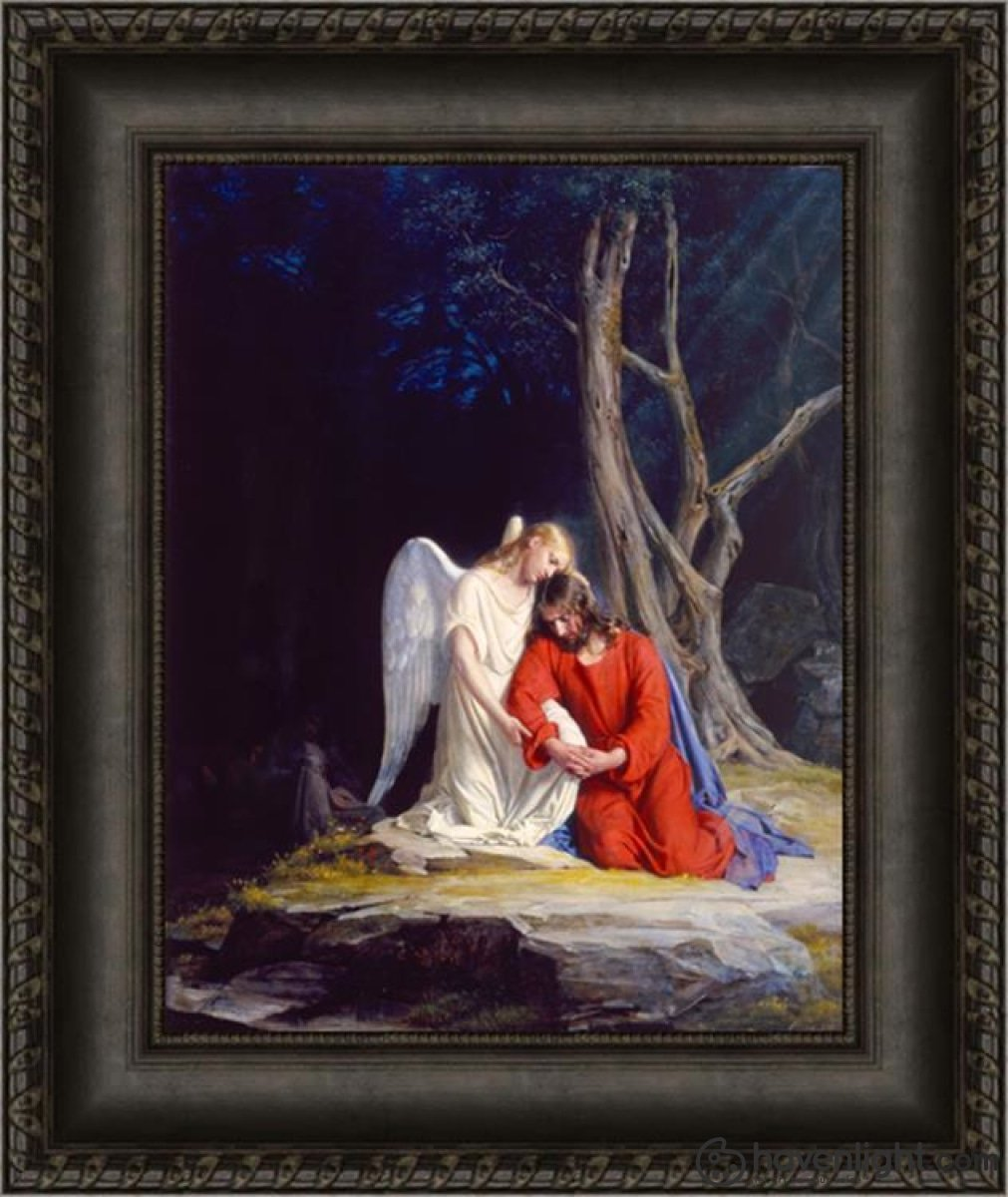 Gethsemane Open Edition Canvas / 16 1/2 X 21 Frame D Art