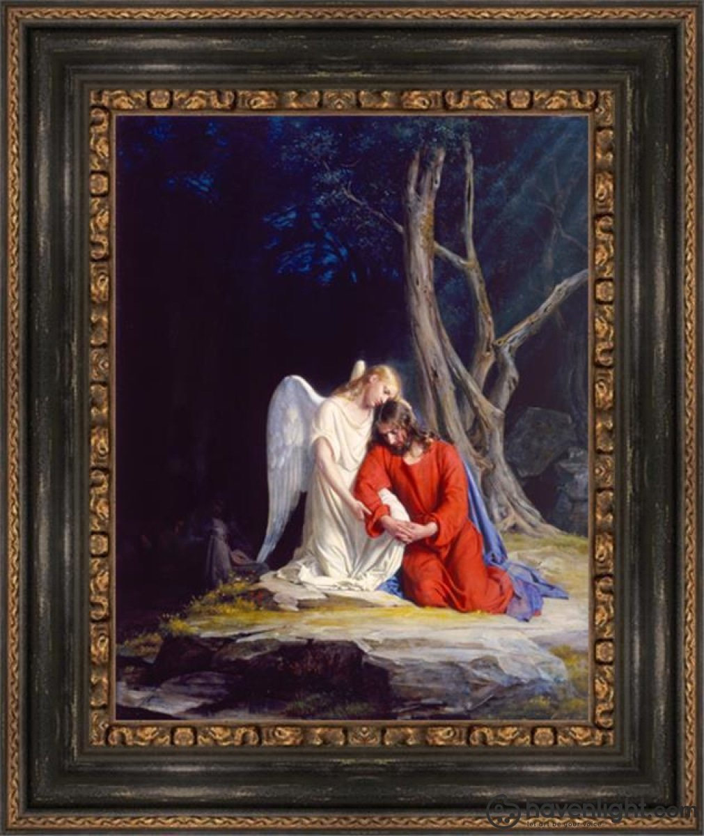 Gethsemane Open Edition Canvas / 16 1/2 X 21 Frame F Art