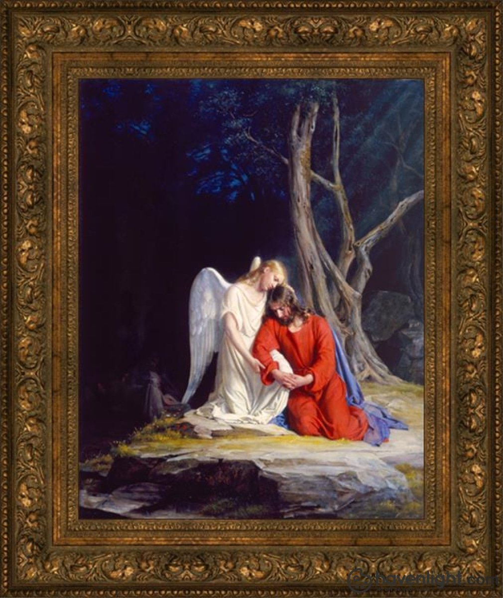 Gethsemane Open Edition Canvas / 22 X 28 Frame B Art