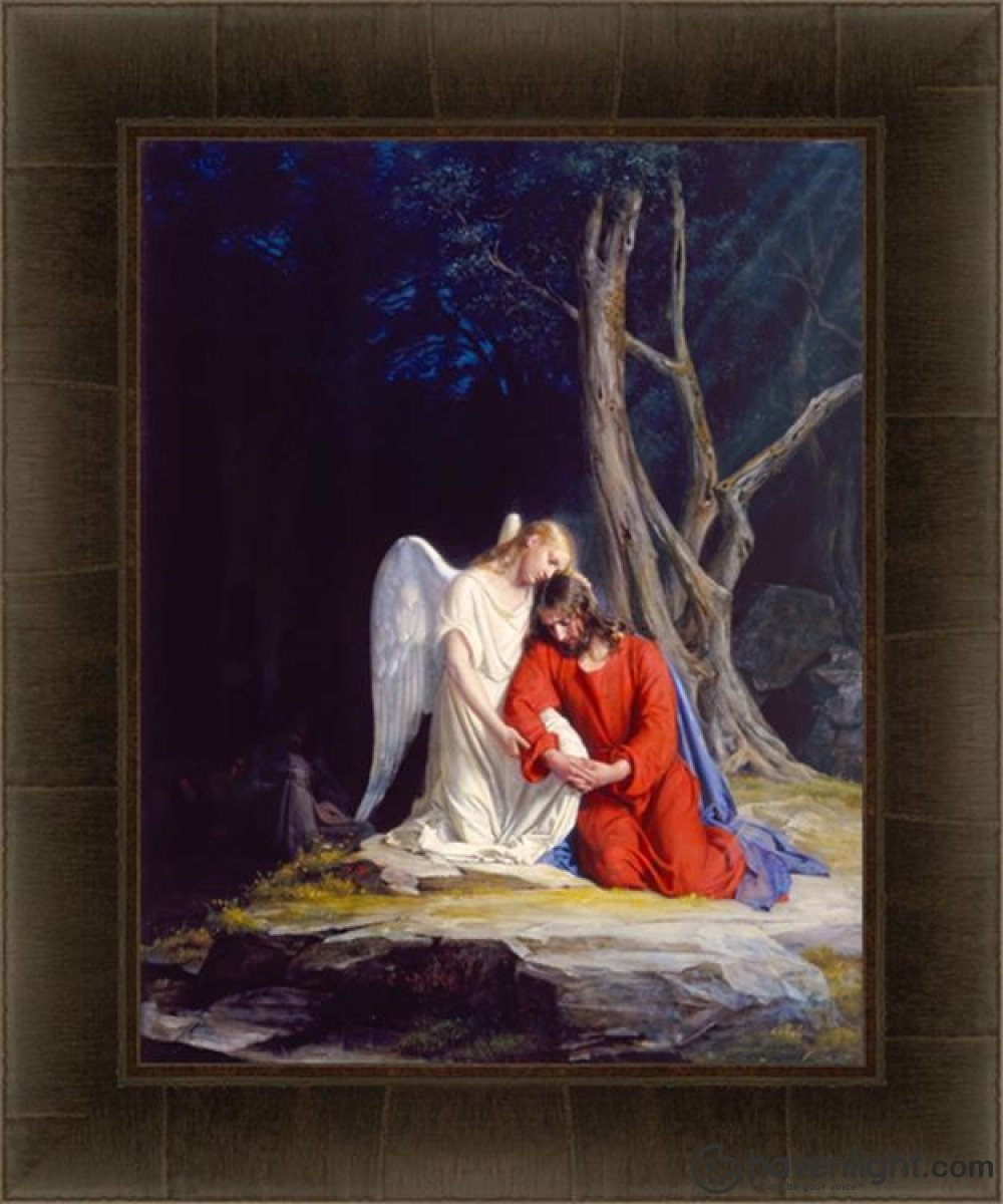 Gethsemane Open Edition Canvas / 22 X 28 Frame D Art