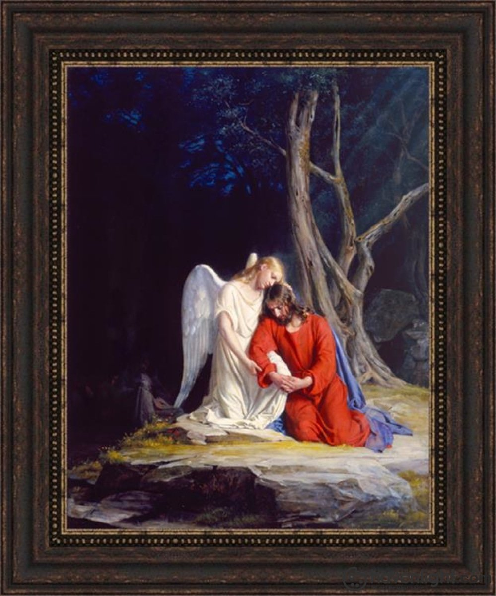 Gethsemane Open Edition Canvas / 22 X 28 Frame F Art