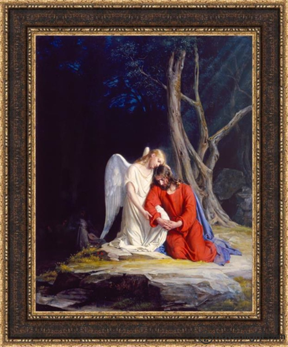 Gethsemane Open Edition Canvas / 22 X 28 Frame H Art