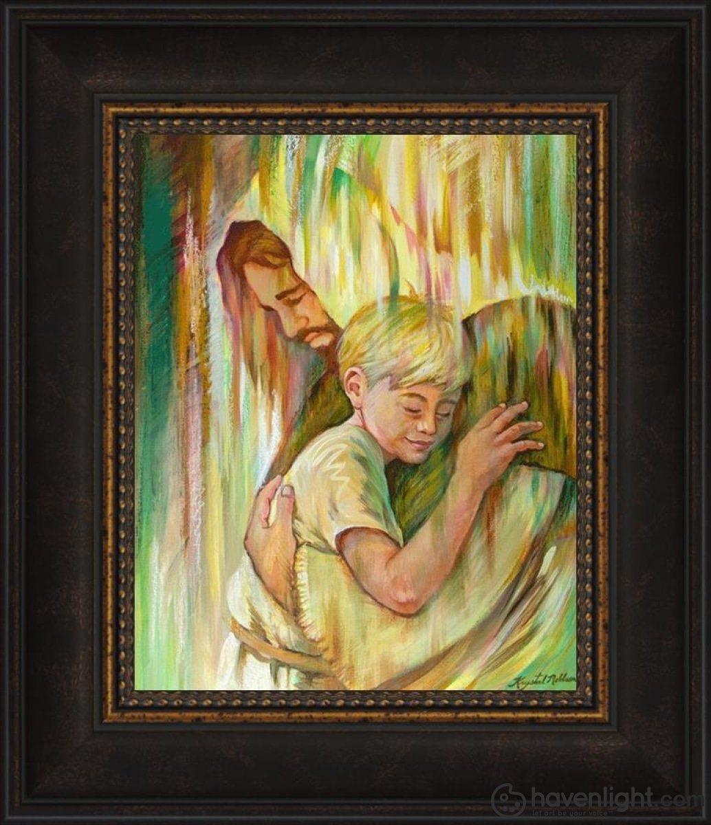 He Hears Me Open Edition Print / 8 X 10 Frame W 14 1/2 12 Art
