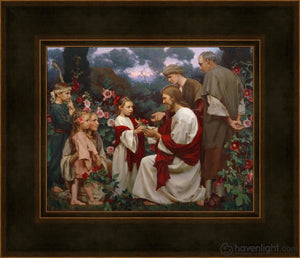Of Such Is The Kingdom Of Heaven Open Edition Print / 10 X 8 Frame A 14 1/4 12 Art