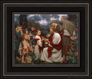 Of Such Is The Kingdom Of Heaven Open Edition Print / 10 X 8 Frame B 14 1/4 12 Art
