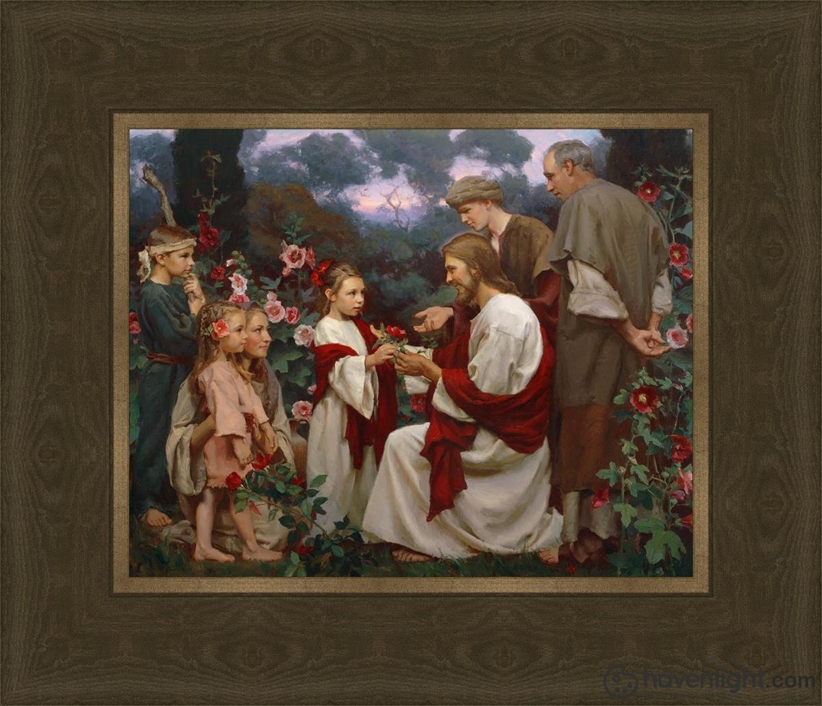 Of Such Is The Kingdom Of Heaven Open Edition Print / 10 X 8 Frame G 14 1/4 12 Art